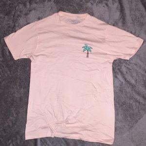 Peach shirt with palm tree